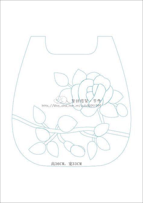[转载]【黑线姬鼠】韩网玫瑰包图纸分享