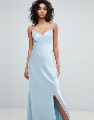 34e97d3dd0b7 Vestido largo de dama de honor estilo camisola de satén de Ghost ...