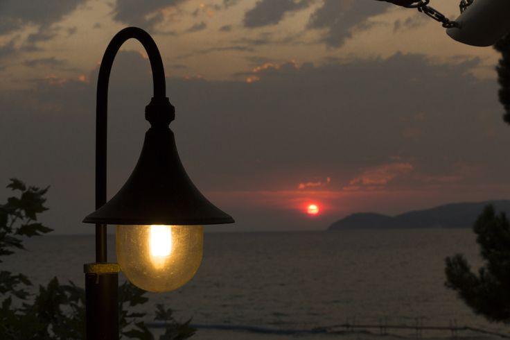 lamplight sunset