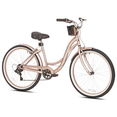 Kent 26 inch Bayside Cruiser Women's Bike, Rose Gold, For Height Sizes 5'2 inch and Up