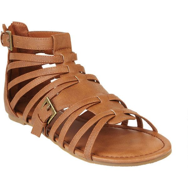 Madden Girl Maximus Gladiator Sandal ❤ liked on Polyvore featuring shoes, sandals, strappy shoes, strappy gladiator sandals, strappy sandals, gladiator sandals shoes and strap shoes