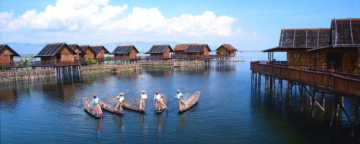 For travelers who are interesting in urban areas and for those who are looking for a relaxing vacation, Inle Lake – the second largest lake which is 22 km long and 10 km cross (it is just about 14 miles long and 7 miles wide) and one of the main tourist attractions in Myanmar is much recommended. Because of its location