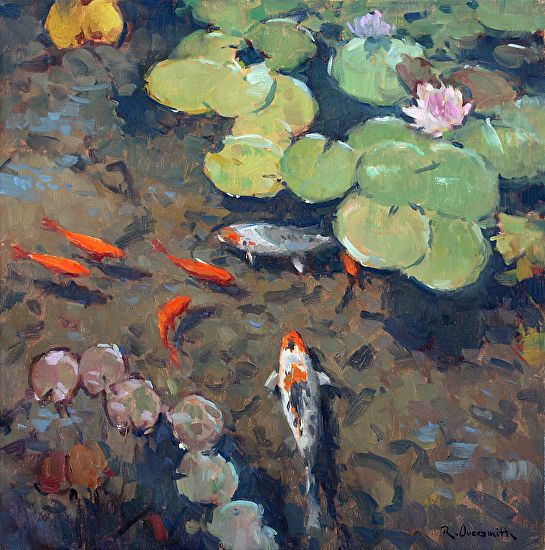 945 best a water lily images on pinterest water lilies for Koi fish pond art
