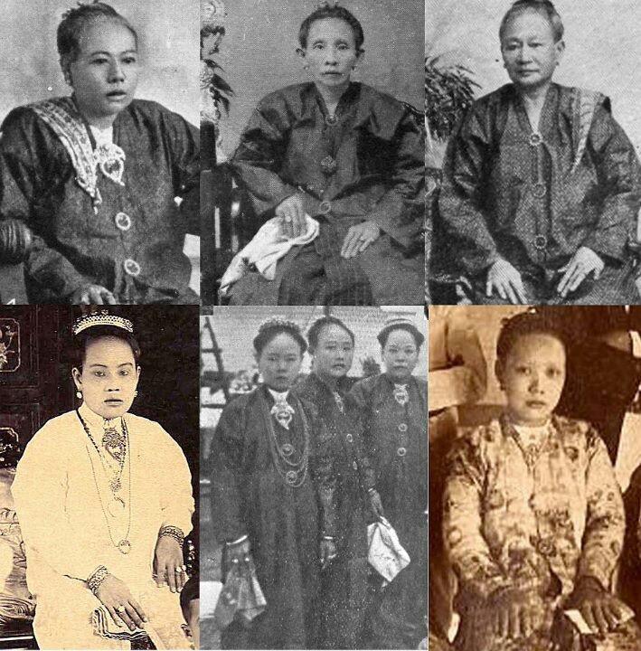 "The Nyonya ladies of yesteryear..with their ""sapu taghan"" handkerchief pinned to their kebaya blouse."