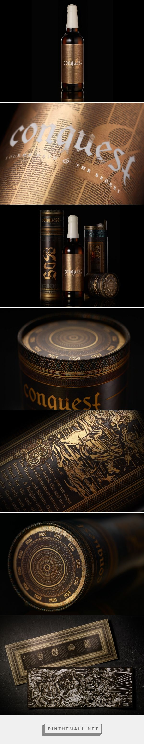 Solemn Oath Conquest special release beer packaging design by Matt Varnish - http://www.packagingoftheworld.com/2016/12/solemn-oath-conquest-special-release.html