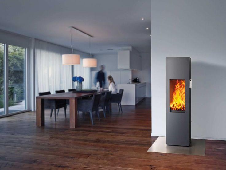 Poêle à bois / contemporain / en acier - ART-10 - attika