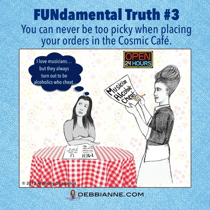 You cant be too picky in the Cosmic Cafe. Order what you really want! | self love | empowerment | appreciation | metaphysical humor | spiritual comedy | uplifting | inspiring | fun | cosmic cheerleader | you got this | self improvement | wisdom truth | in