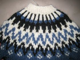 Knit Icelandic: FREE PATTERN AND DESCRIPTION - How to knit a Icelandic Sweater