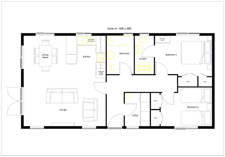 20 X 40 800 Square Feet Floor Plan Google Search
