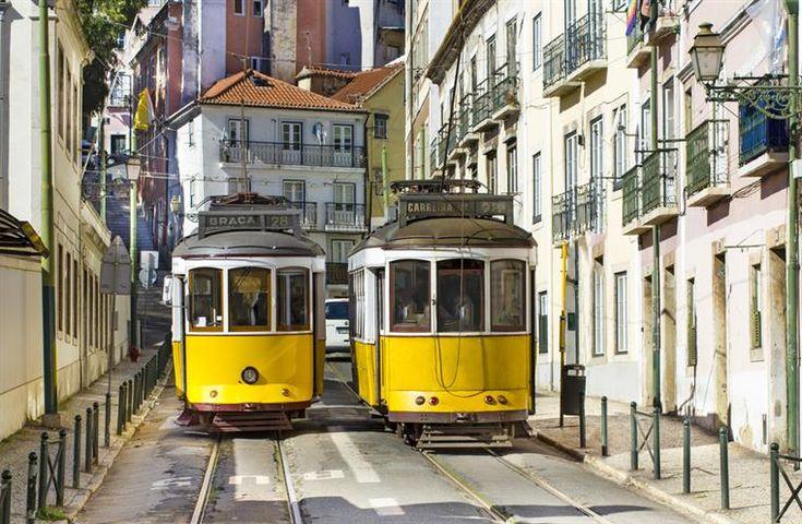 tram, electrico, Lisbon, Portugal