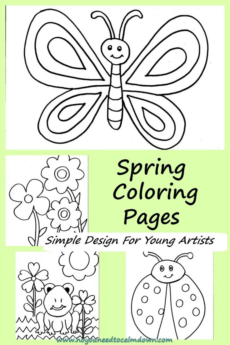 Toddler spring coloring sheets - Coloring Pages For Kids Free Printables