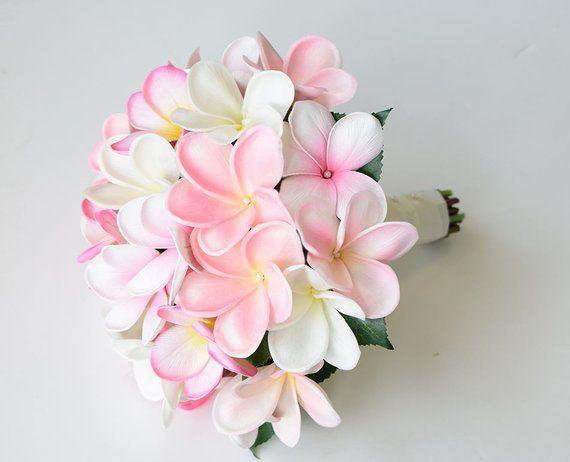 Blush Pink Silk Wedding Bouquet Plumeria Fangipani Real Etsy Flower Bouquet Wedding Silk Wedding Bouquets Silk Flower Bridal Bouquet