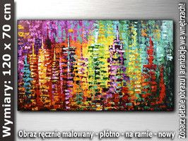 OBRAZ nr AB474 120x70 cm Obrazy olejne malarstwo