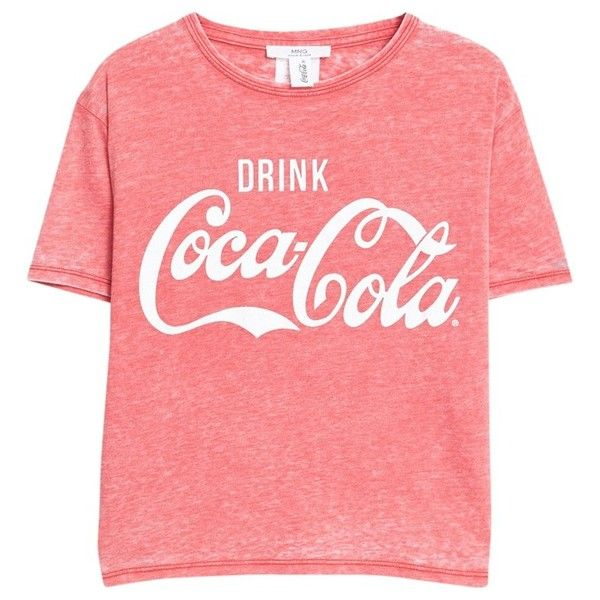 Mango Printed Logo Cotton T-Shirt, Dark Red (334.100 IDR) ❤ liked on Polyvore featuring tops, t-shirts, shirts, red shirt, logo t shirts, short sleeve tee, retro t shirts and red t shirt