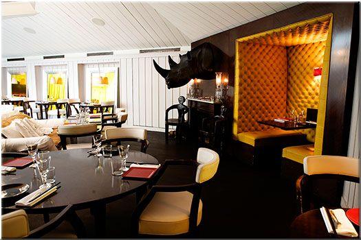Restaurant BON Paris, salle cheminée : cuisine gastronomique asiatique, design de Philippe Starck