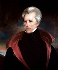 Andrew Jackson, by contrast, in collaboration with strategist Martin Van Buren rallied his followers in the newly emerging Democratic Party. In the election of 1828, Jackson defeated Adams by an overwhelming electoral majority. The election saw the coming to power of Jacksonian Democracy, thus marking the transition from the First Party System (which reflected Jeffersonian Democracy) to the Second Party System. - Wikipedia, the free encyclopedia