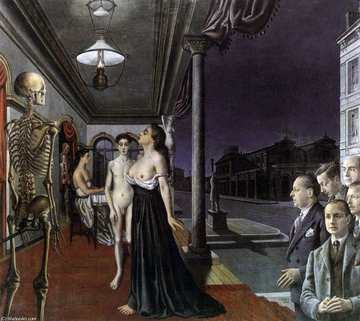 by Paul Delvaux   www.artexperiencenyc.com