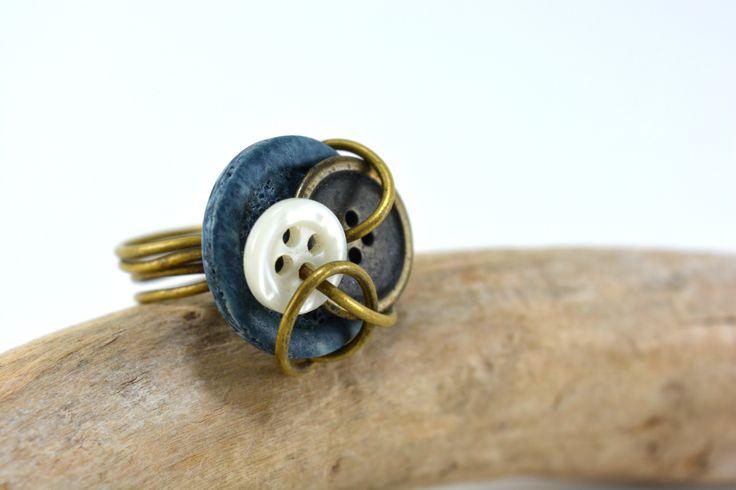 #button #ring #handmade