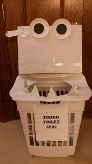 Turn a laundry basket into a Turbo Toilet 2000 and make a game tossing underpants in.
