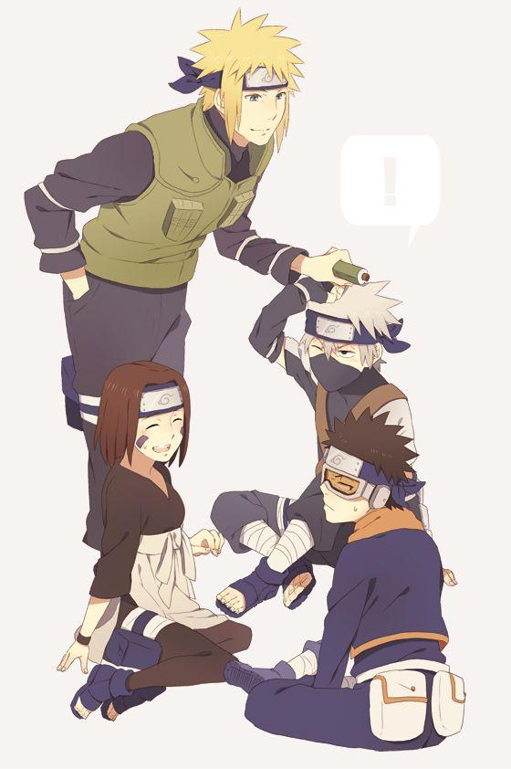 Team Minato: Kakashi & Obito & Rin | Naruto #anime ...
