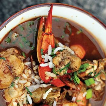 Super Bowl Sunday Seafood Gumbo - LOTS of ingredients but I can't wait ...