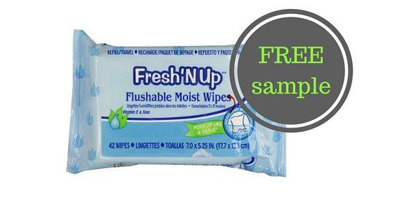 Free Sample of Freshnup Wet Wipes