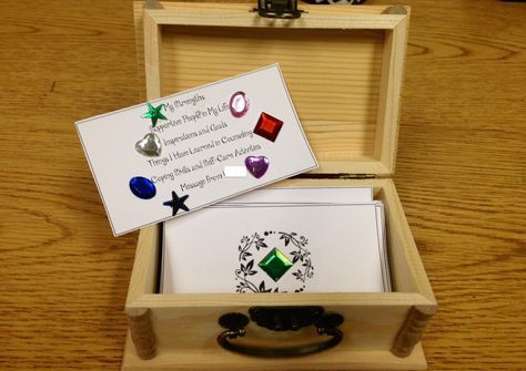 Treasure Chest Termination Activity Treasure Box - gift - life worth living - art therapy