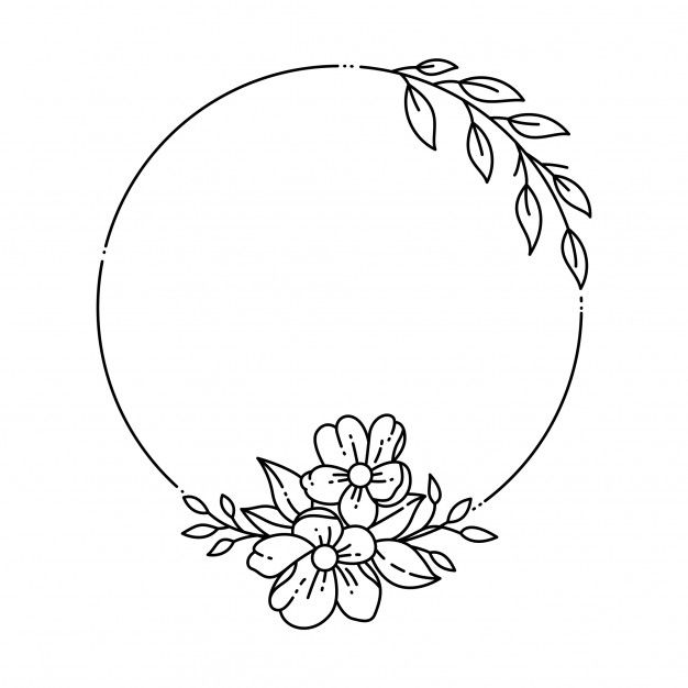 Floral Frame Premium Vector Premium Vector Freepik Vector Flower Frame Floral Ci Hand Embroidery Patterns Free Flower Embroidery Designs Floral Drawing