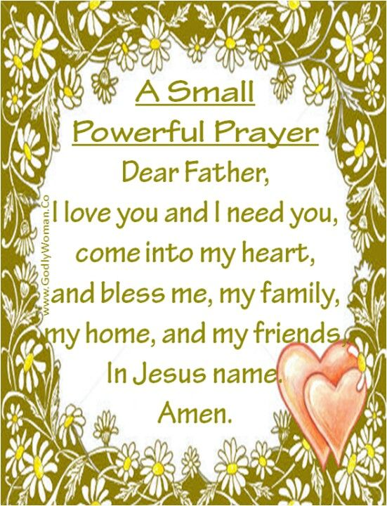 A very special prayer.. God please bless my family & friends & me also