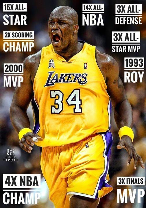 8050b14e073 Where does Shaquille O'Neal rank on your All-Time Greatest list? - AC3  #basketballtraining