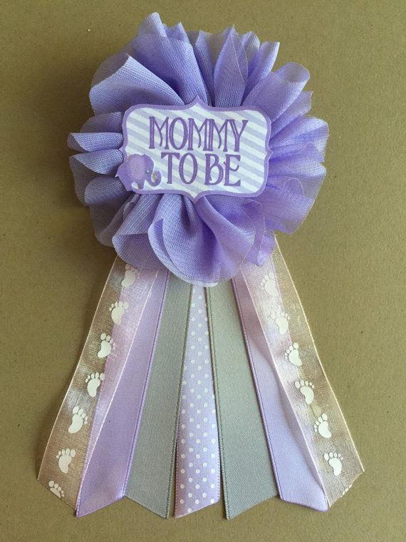 Pink Yellow Purple Baby Shower Part - 37: Purple Elephant Baby Shower Mommy-to-be Flower Ribbon By Afalasca