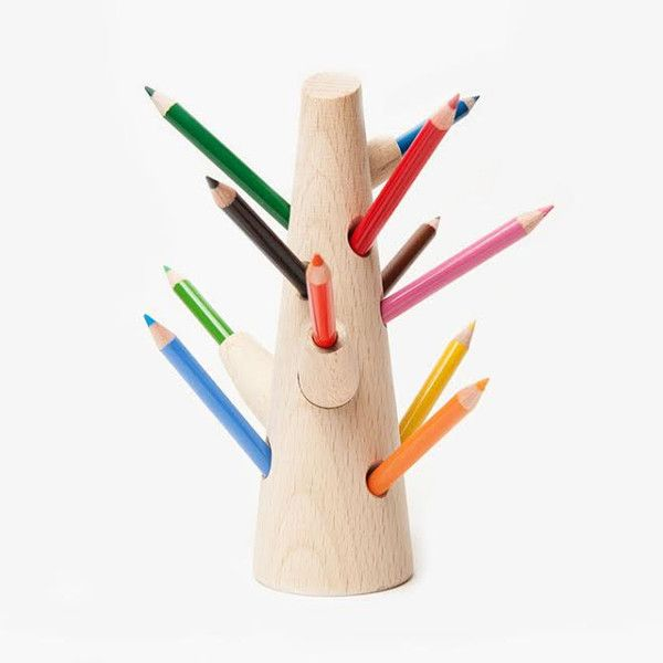Colored Pencil Tree (beech wood), from Poketo shop.