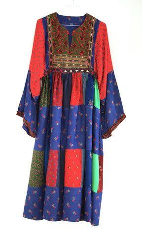 Embroidered patchwork Afghan dress – EVIG VINTAGE