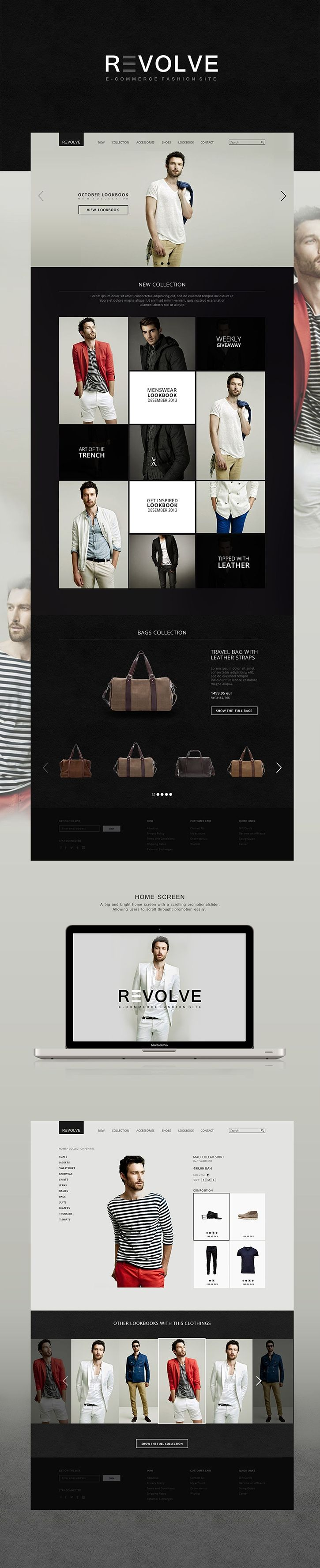 REVOLVE | #webdesign #it #web #design #layout #userinterface #website #webdesign < repinned by www.BlickeDeeler.de | Take a look at www.WebsiteDesign-Hamburg.de
