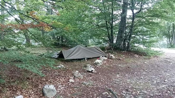Tarp ( Poncho) Nachtlager