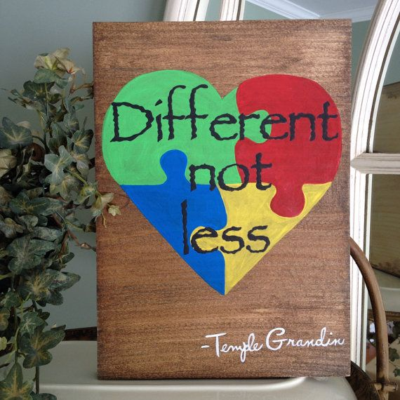 Autism Awarness Sign Different Not Less Autism by NotJustSigns, $25.00