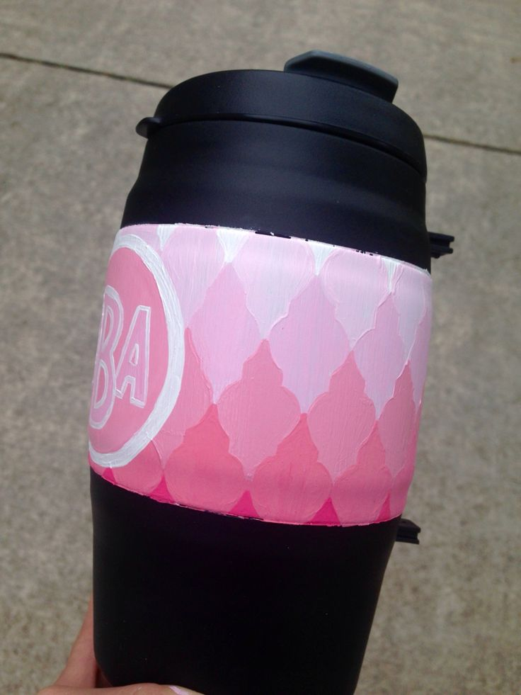 Hand-painted bubba keg quatrefoil pink ombré monogram