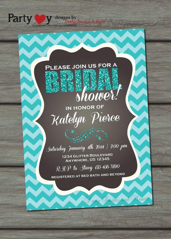 Bridal Shower Invitation Turquoise Bridal by PartyInvitesAndMore, $10.00