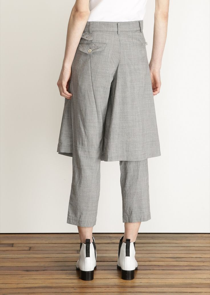 COMME DES GARCONS Pleated Skirt Pant (back view)