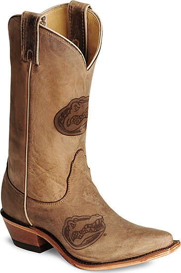 Gators cowboy boots...Oh my ...Yes I will be buying these :)