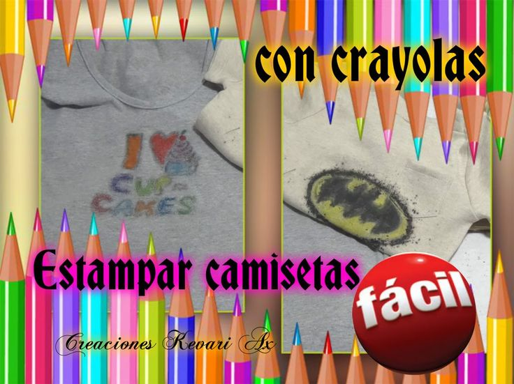 Camisetas estampadas con crayolas serigrafia casera - Letras para serigrafia ...