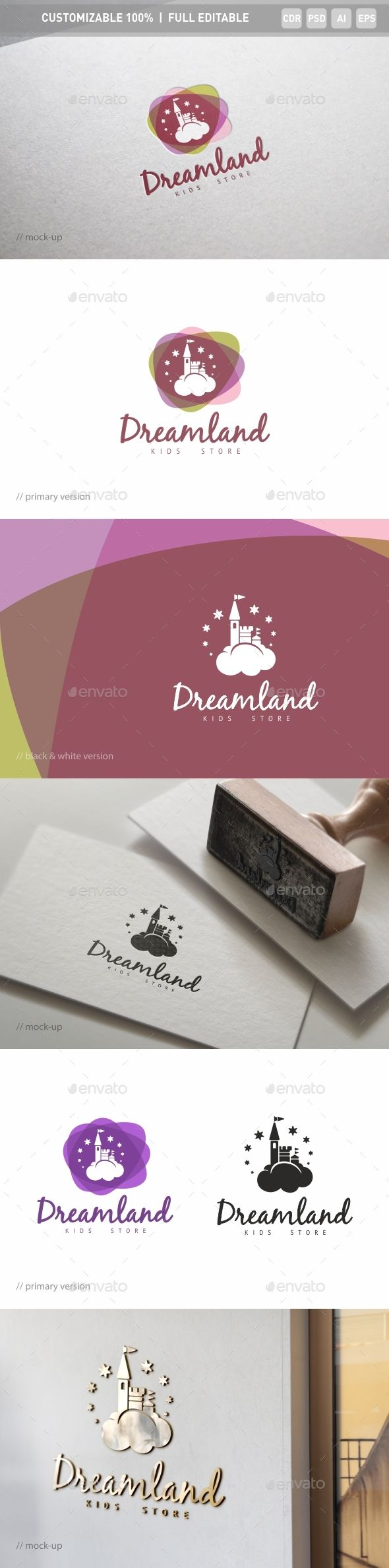 Fairyland Logo Template — Photoshop PSD #fairytail #magic • Available here → https://graphicriver.net/item/fairyland-logo-template/17847204?ref=pxcr