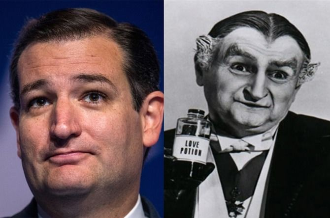 Besides his batty wisdom, his Tea Party politics, and his painfully horrible timing, there's one other thing that defines Republican candidate Ted Cruz. What's that, you ask? Well, it just so happens that Ted Cruz looks exactly like Grandpa Munster of the beloved 1960s CBS sitcom The Munsters. With