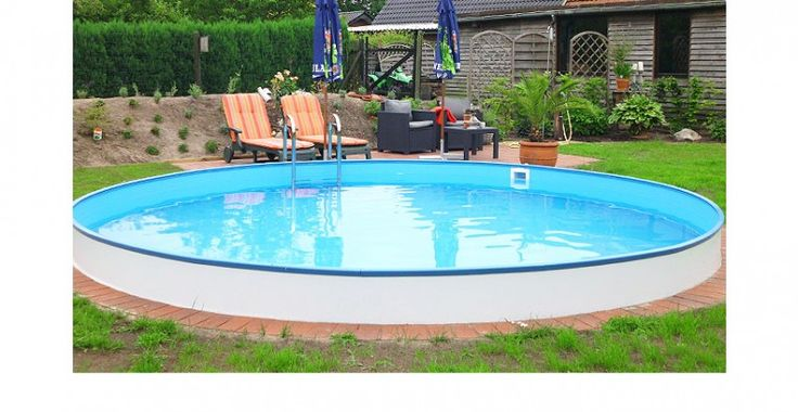 Pool rund elegant pool rund premium gm with pool rund for Pool set rund
