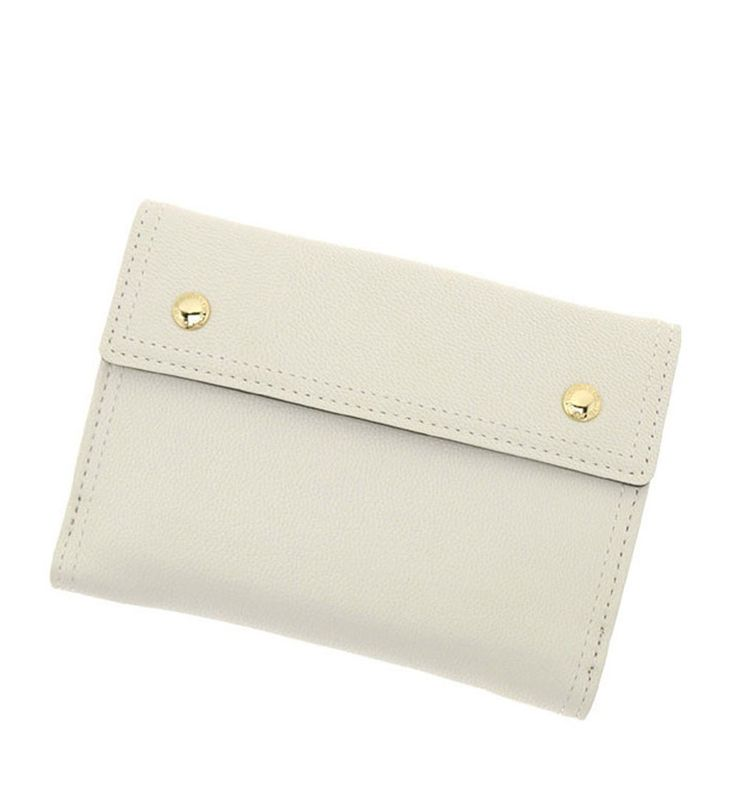 White Colour PU Purse with Magnet Closing