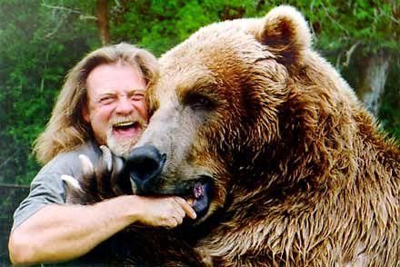 Man's best friend? Dog? No. Grizzly Bear. #boardofman