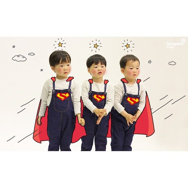 Cutest superman in the world  #daehan #minguk #manse #songtriplets #thereturnofsuperman
