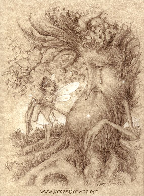 On The Mend Fairy Tree 8.5x11 Signed Print by brownieman on Etsy