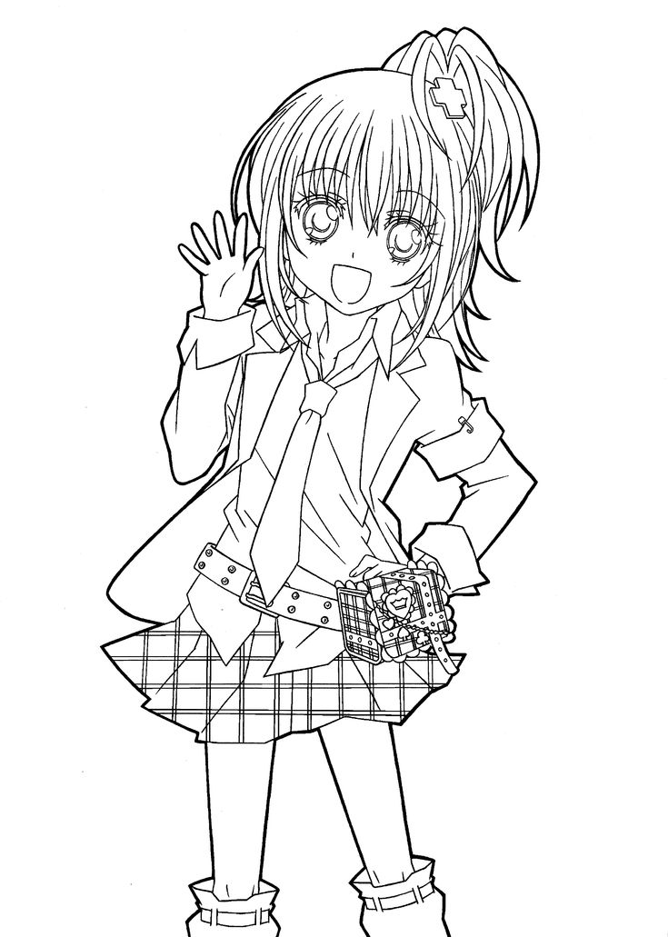 Hotaru from Shugo chara anime coloring pages for kids