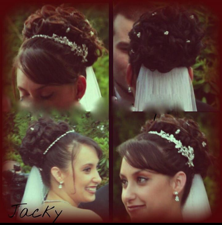 bridal updo by jacky